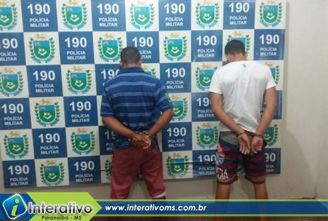 PM de Paranaíba encaminha dois a delegacia por suspeita de tráfico