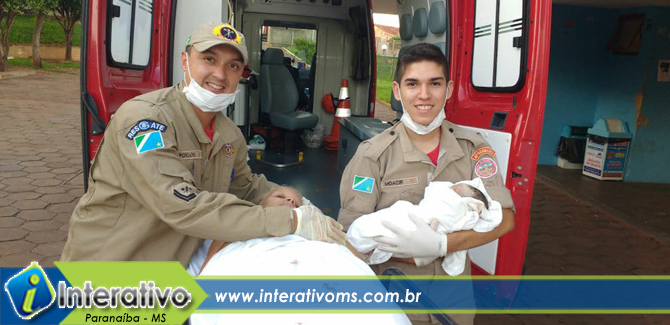 Corpo de Bombeiros de Paranaíba realiza parto em casa