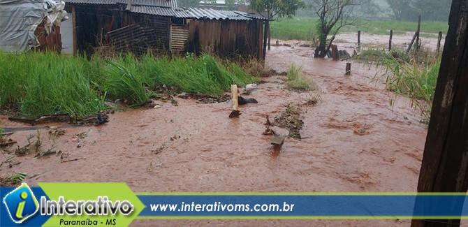 Chuvas causaram perdas e susto em Paranaíba
