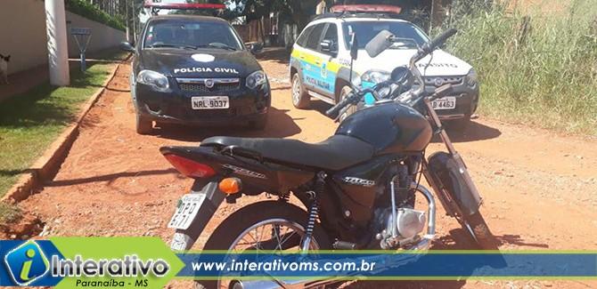 Ação conjunta entre polícias civil e militar recupera moto furtada