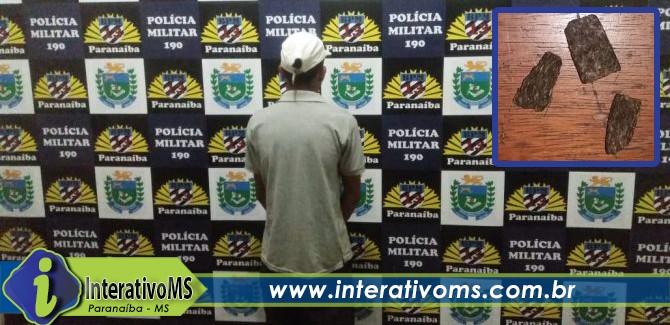 Homem com criança de um ano é detido com drogas em Paranaíba