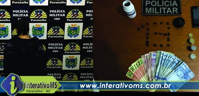 Polícia Militar de Paranaíba prende mulher por tráfico de drogas