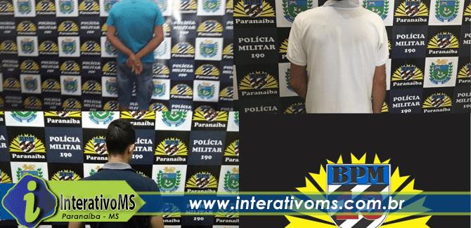 PM de Paranaíba prende três foragidos da justiça