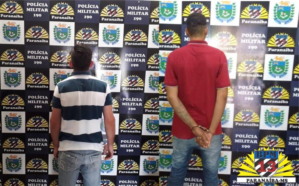 PM de Paranaíba cumpre dois mandados de prisão