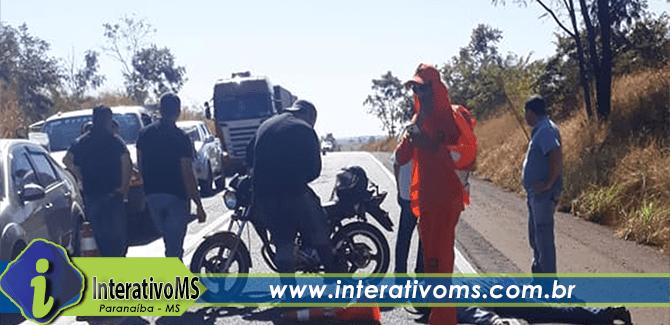 Motociclista colide em caminhonete na BR-158 entre Paranaíba e Aparecida