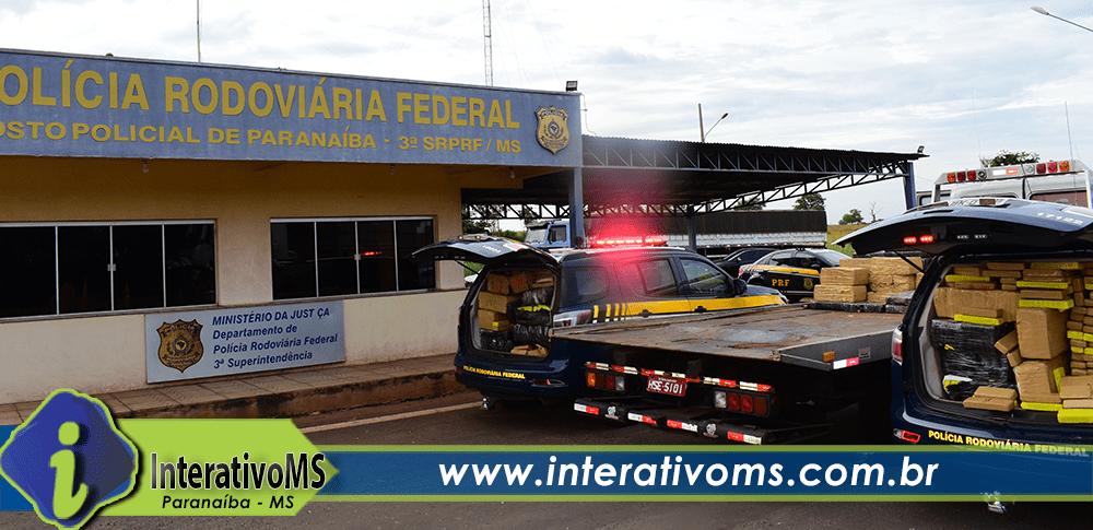 PRF de Paranaíba apreende cerca de 4 toneladas de drogas