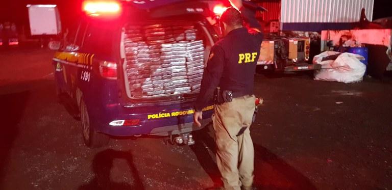 PRF apreende mais de 18 milhões em cocaína em Aparecida do Taboado