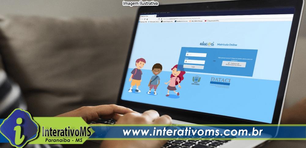 Aulas da rede municipal de Paranaíba voltam na segunda de forma virtual