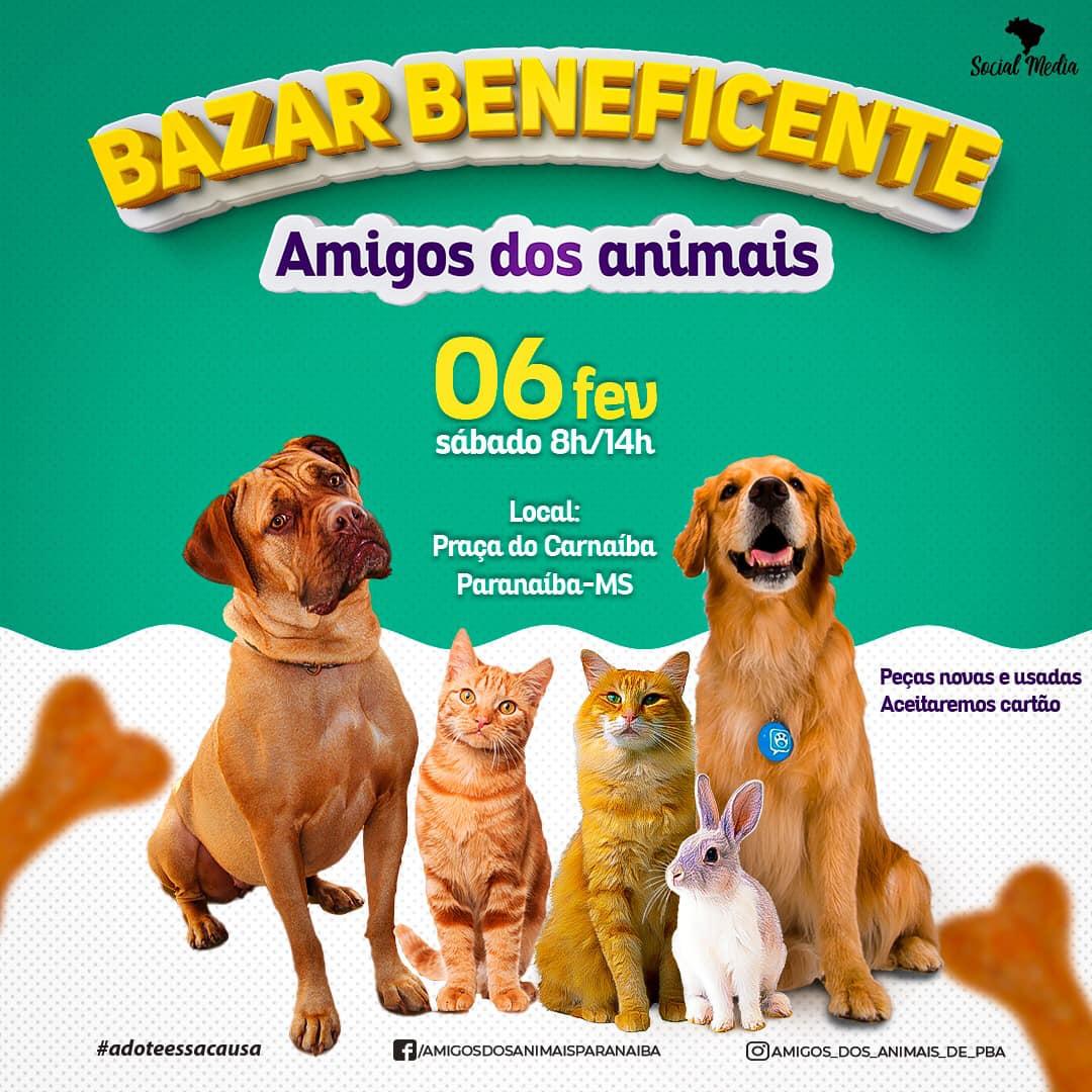 Influenciadora digital organiza bazar beneficente em prol aos animais de rua de Paranaíba