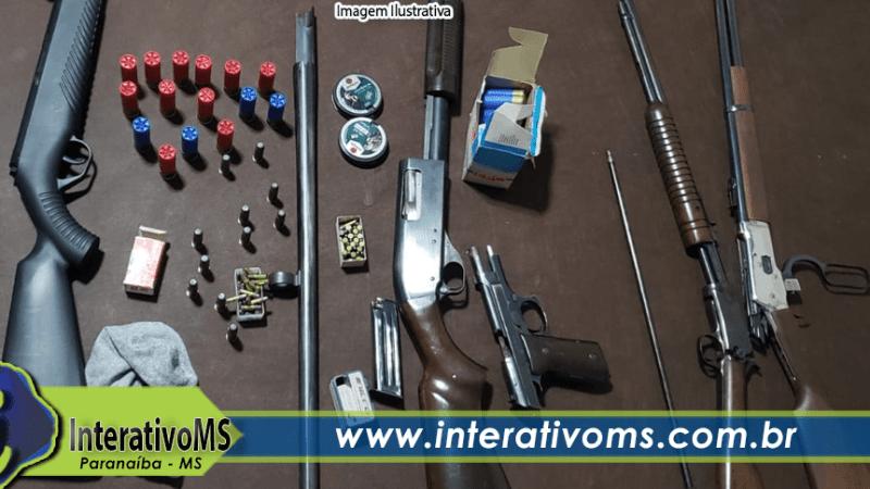 Polícia Civil apreende cinco armas de fogo e grande quantidade de munições após denúncia de violência doméstica