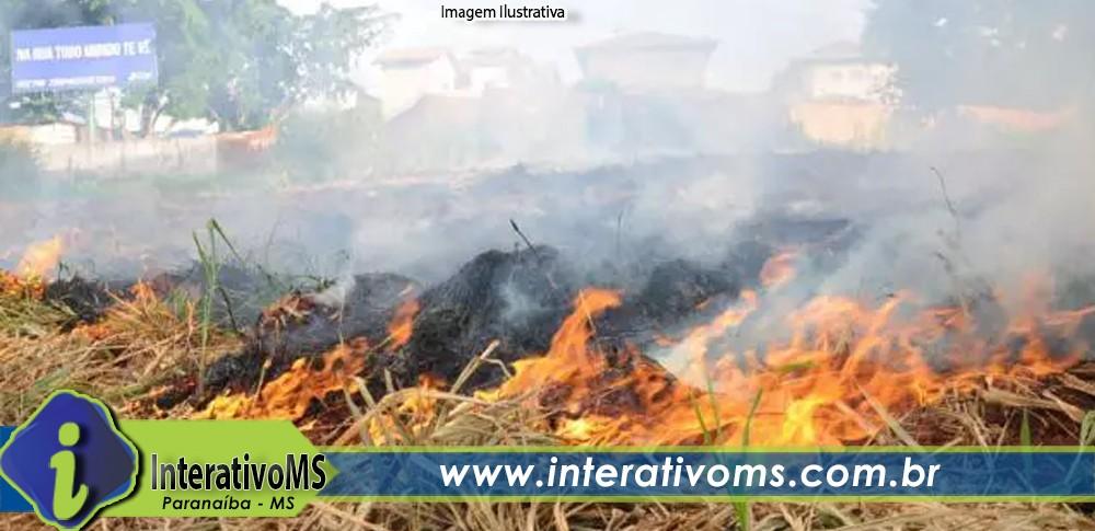 Homem é preso por incendiar terreno baldio em Paranaíba