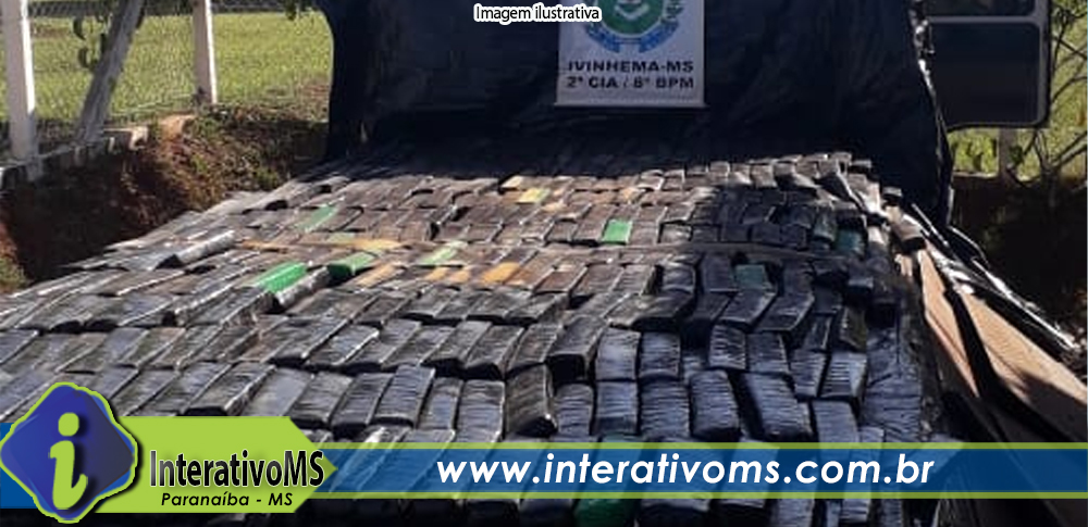 Caminhão com placas de Paranaíba é encontrado com mais de uma tonelada de maconha em Ivinhema