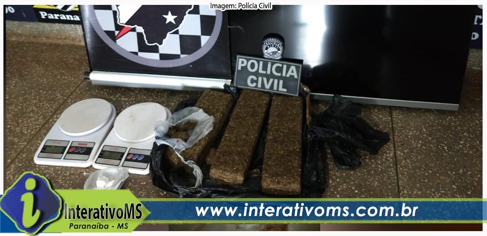 Polícia Civil e Força Tática prendem dois suspeitos de tráfico de drogas em Paranaíba