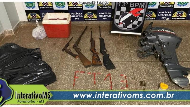 Homens são presos com armas e carne furtada no Jardim América