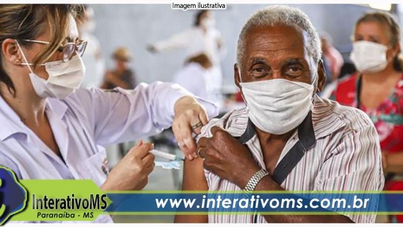 Terceira dose da vacina contra a Covid-19 é liberada para idosos com 70 anos ou mais em Paranaíba