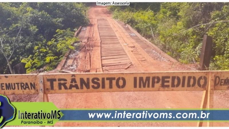 Ponte do Rio Três Barras está interditada
