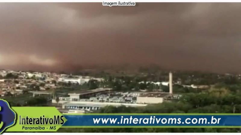 Inmet emite alerta de risco de tempestade em Paranaíba e região