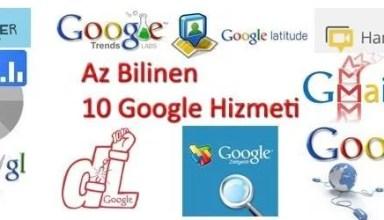 Az bilinen 10 google hizmeti