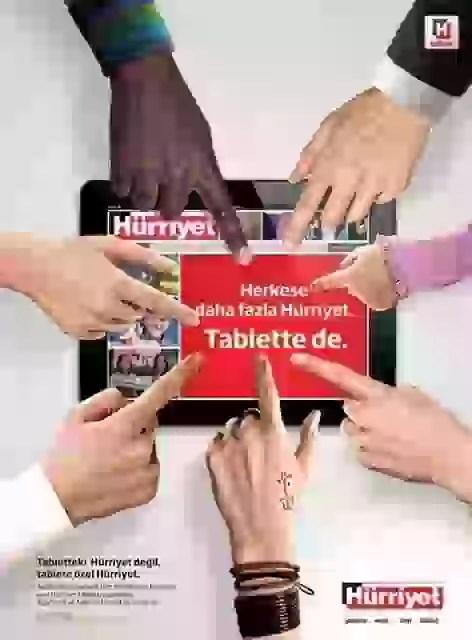 Tabletteki Hürriyet değil, tablete özel Hürriyet