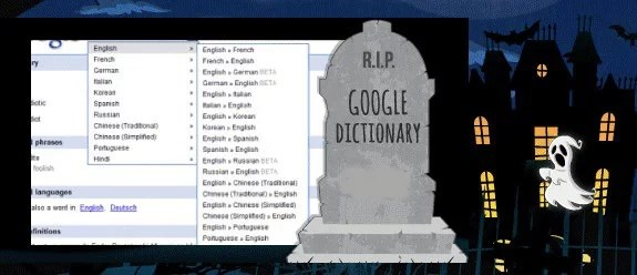 R.I.P Google Dictionary