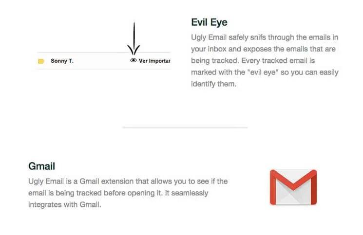 Sizi koruyan Chrome eklentisi: Ugly Mail