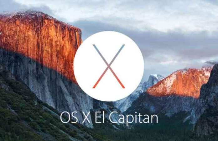 Mac OSX 10.11 El Capitan