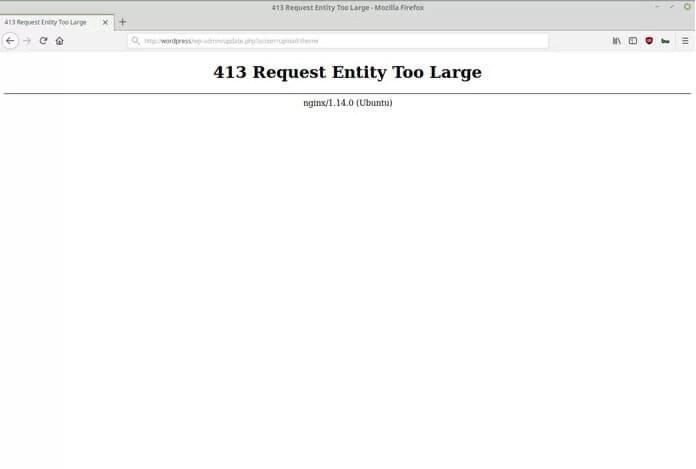 Wordpress 413 Request Entity Too Large Hatası