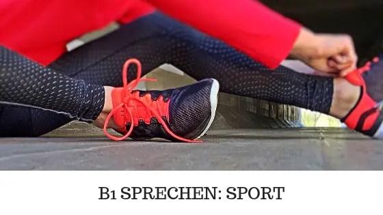 B1 SPRECHEN | SPORT