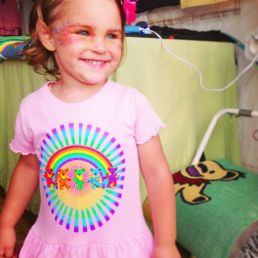 Little Hippie Rainbow Bears Toddler Dress at Gathering of the Vibes 2014