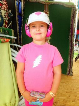 Little Hippie lightning bolt toddler t at Gathering of the Vibes 2014