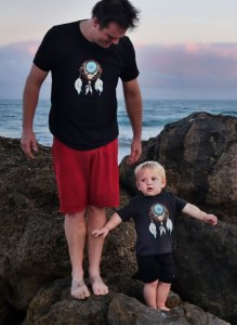 Father & Son Dreamcatcher Stealie matching shirts