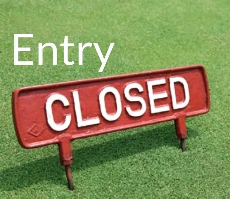 Entry Now Closed