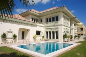 dubai villa wasting water