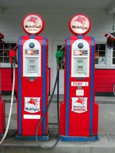historic gasoline pumps