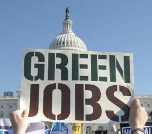 green jobs sign