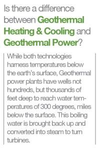 geothermal power vs heating cooling