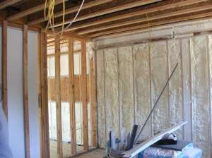 Spray foam insulation can now make external walls tight--very tight.