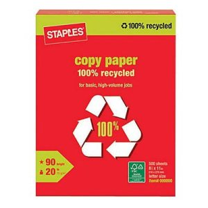 staples recycled copy paper