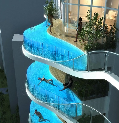 glass balcony cybertecture