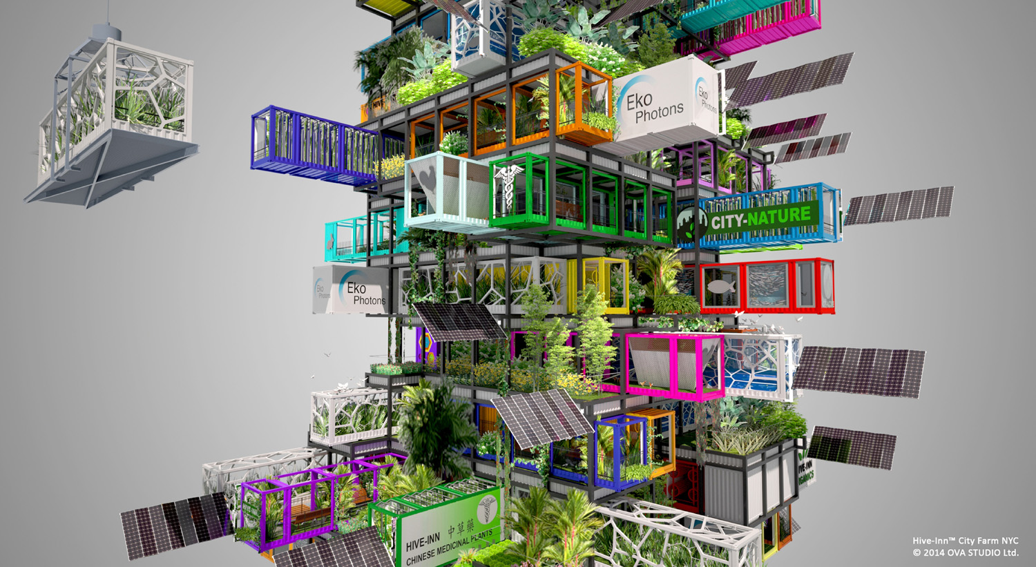 Hive Farm Proposes Plug and Play Vertical Farming | Intercon