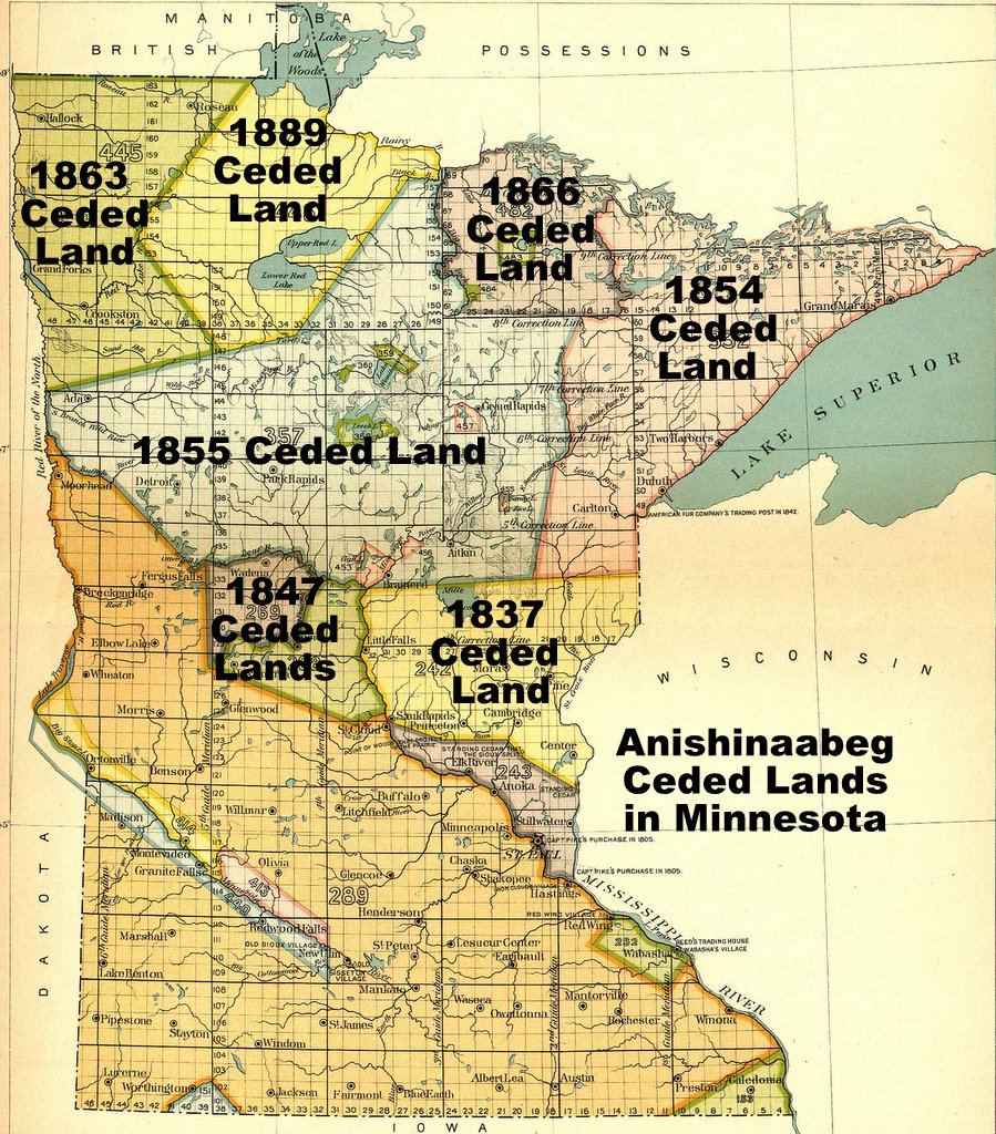 Ceded Lands in MN