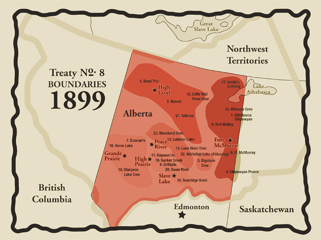 Map from www.Treaty8.ca