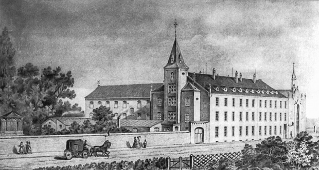 Alexianer Hospital in Krefeld, 1883. (Courtesy of Alexianer Hospital)