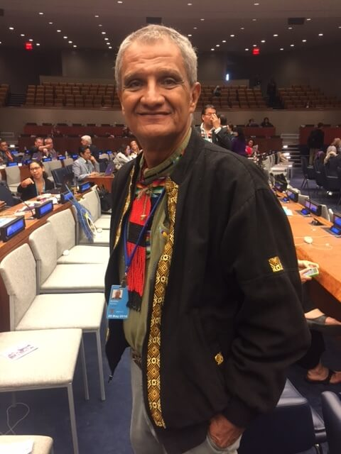 Brooklyn at the UN Permanent Forum on Indigenous Issues 2016. Photo: Dr. Laura Hobson Herlihy