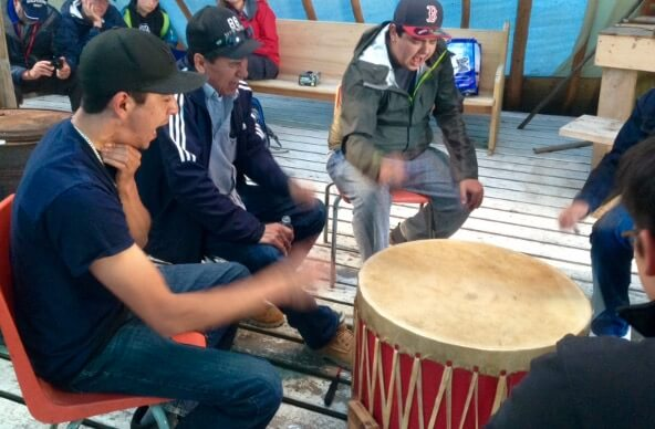 The High Ridge Singers, a group of young Moose Cree who write and perform songs in their First Nation's language.
