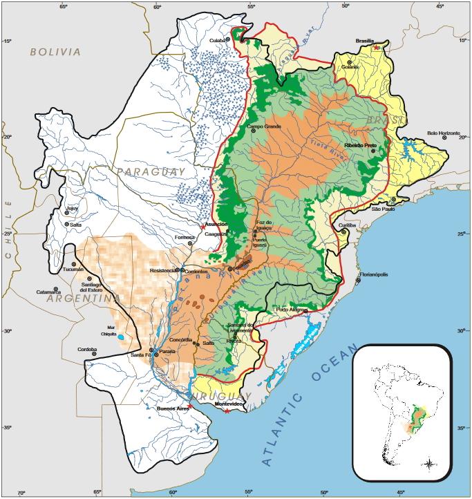 Nestlé Competition For The Guarani Aquifer Threatens Guarani Land - Aquifer map of us with key