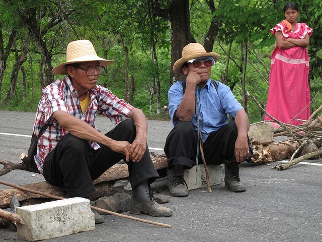 Ngobe Protesters taking a break