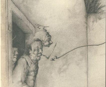 """Illustración de José Hernández para """"El Aleph, de Jorge Luis Borges (Galaxia Gutenberg/Círculo de Lectores)"""