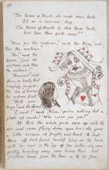 Page from the original manuscript copy of Alice's Adventures Under Ground, 1864