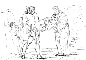 "Drawing by ETA Hoffmann for his book ""The Sandman"""